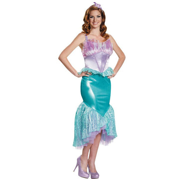 Ariel Deluxe Adult Costume Small 4-6 - adult halloween costumes Disney Costume