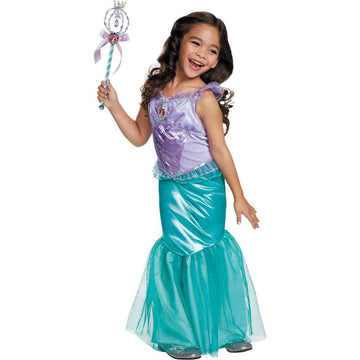 Ariel Disney Deluxe Girls Costume 4-6 - Disney Costume featured Girls Costumes