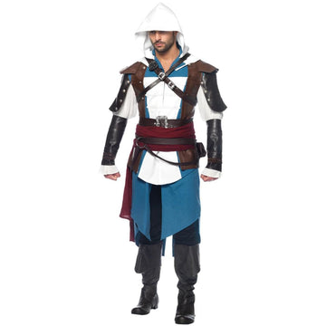 Assassins Creed Edward 9 Piece Adult Costume Xlarge - adult halloween costumes