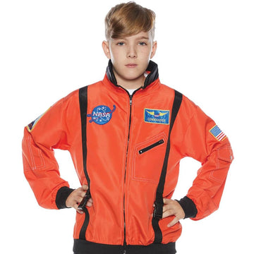 Astro Jacket Kids Costume Orange Lg 10-12 - Astro Jacket Kids Costume Orange Lg
