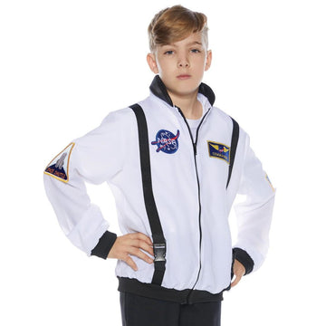 Astro Jacket Kids Costume White Lg 10-12 - Astro Jacket Kids Costume White Lg