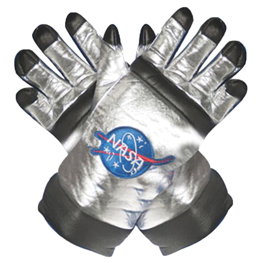 Astronaut Adult Costume Gloves Silver - Astronaut Adult Costume Gloves Silver