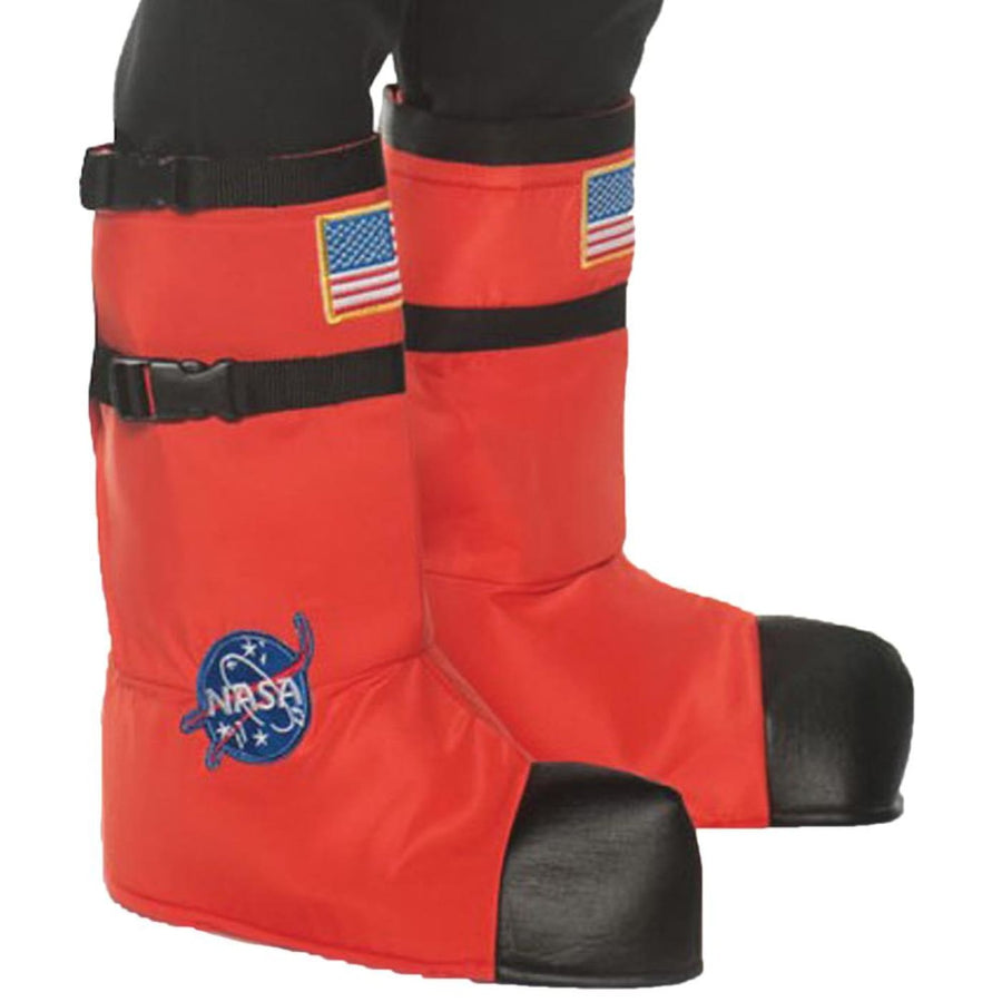 Astronaut Boot Tops Adult Costume Orange - Astronaut Boot Tops Adult Costume