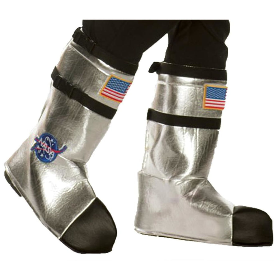 Astronaut Boot Tops Adult Costume Silver - Astronaut Boot Tops Adult Costume