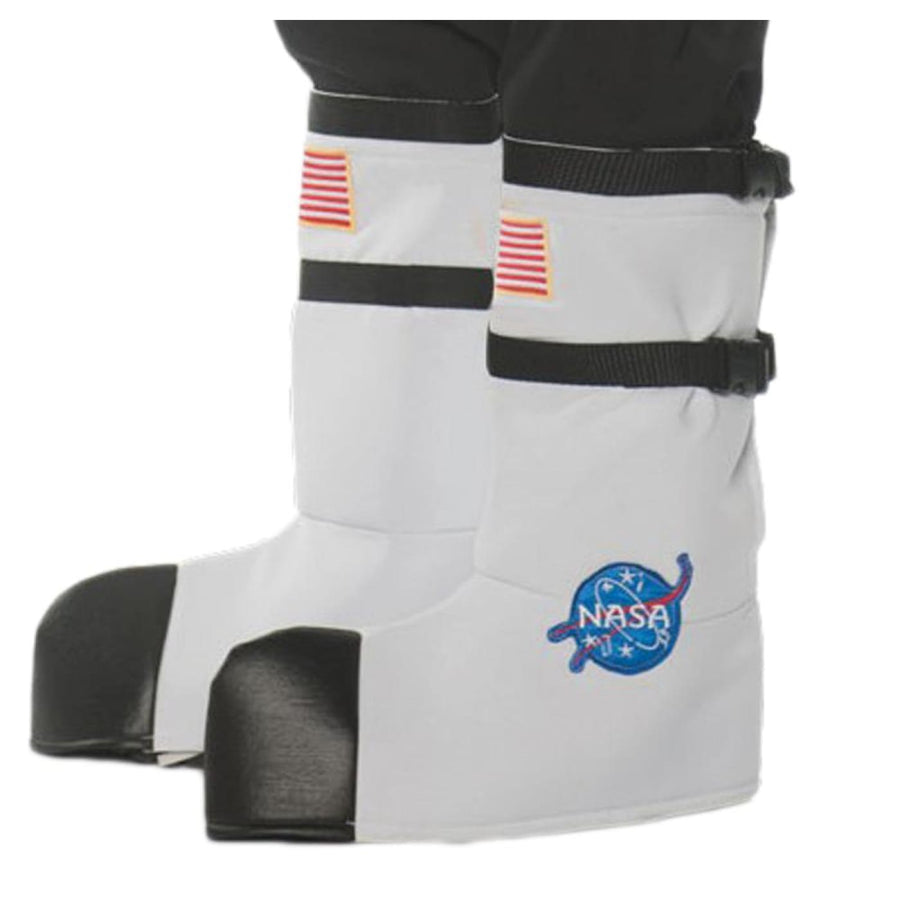 Astronaut Boot Tops Adult Costume White - Astronaut Boot Tops Adult Costume