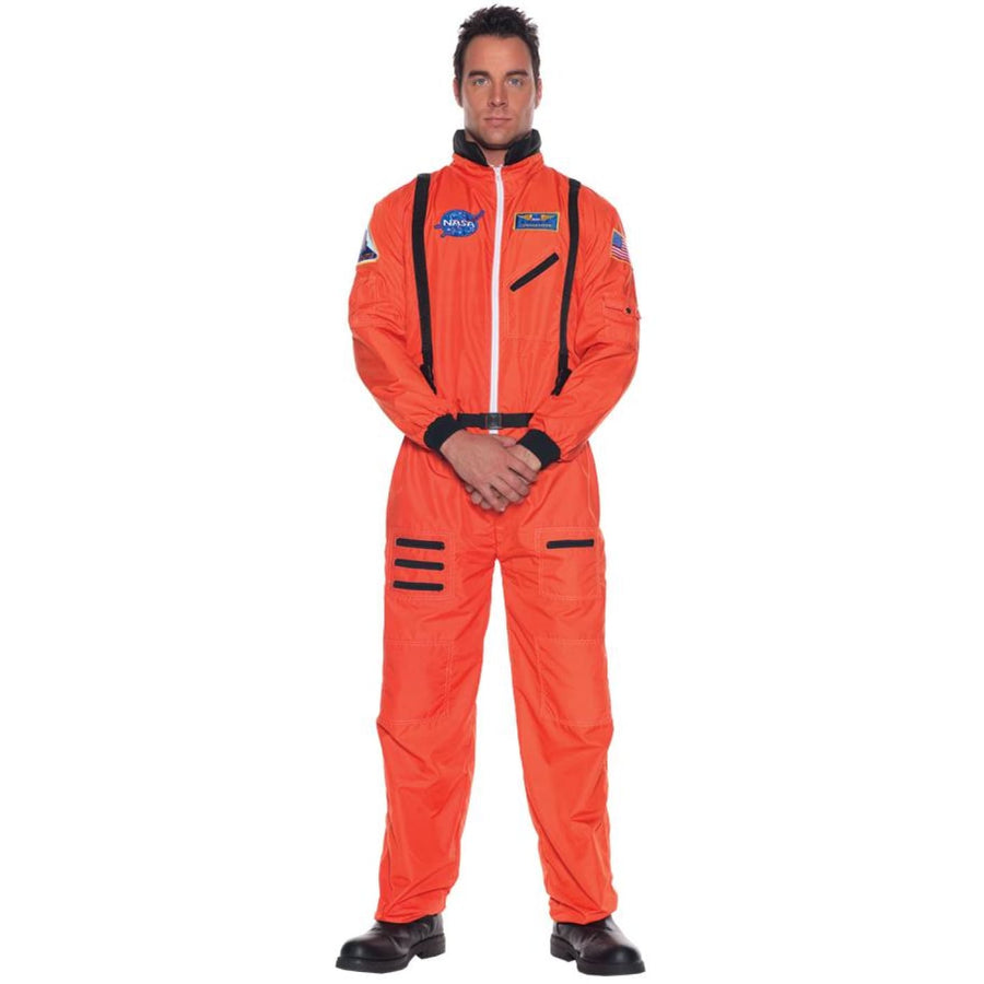 Astronaut Mens Orange Std - adult halloween costumes Astronaut Halloween Costume