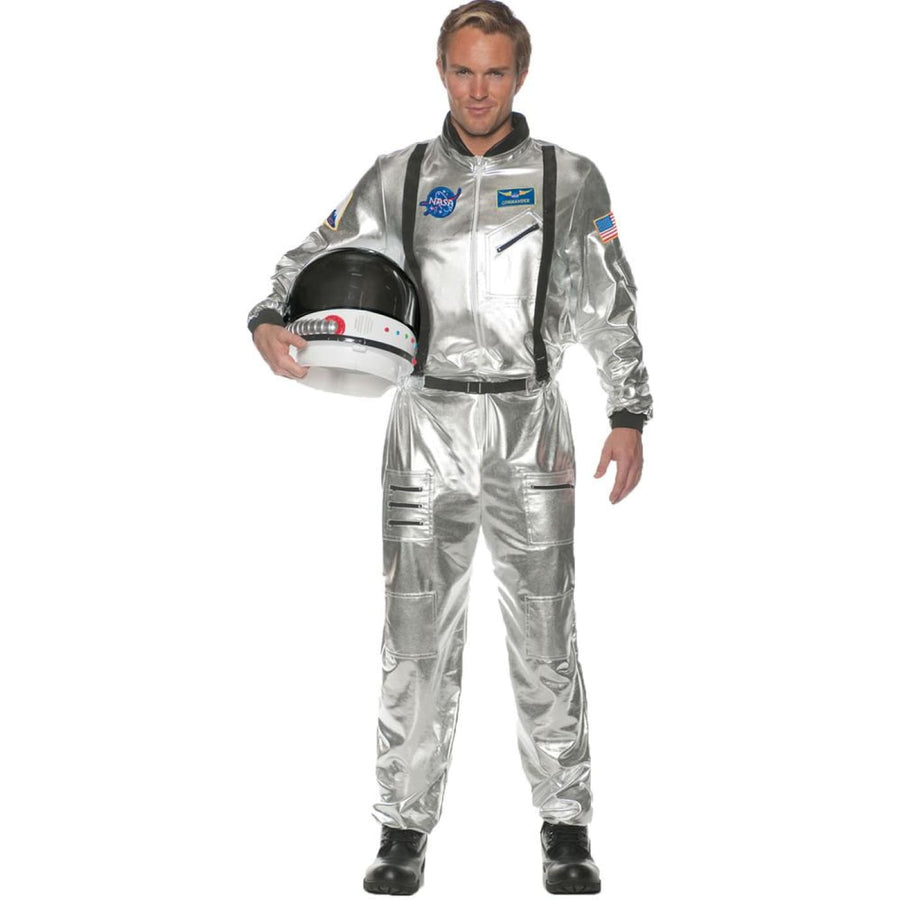 Astronaut Silver Adult Costume Std - Astronaut Silver Adult Costume Std Mens