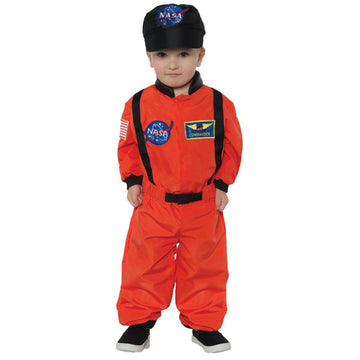 Astronaut Suit Orange Toddler Costume 2T-4T - New Costume Toddler Costumes