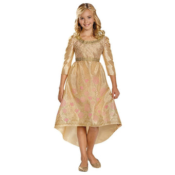 Aurora Coronatin Gown Kids Costume Large 10-12 - Fairytale Costume Girls