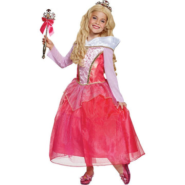 Aurora Deluxe Girls Costume 4-6 - Disney Costume Girls Costumes Halloween