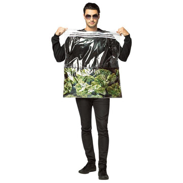 Bag Of Weed Adult Costume - adult halloween costumes Food & Drink Costume Funny