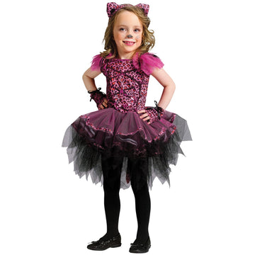 Ballerina Lepoard Toddler Costume 24 Months-2T - Halloween costumes sale Tights