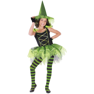 Ballerina Witch Green Child Sm - Girls Costumes girls Halloween costume