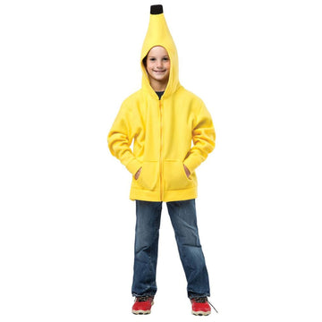 Banana Hoodie Kids Costume Medium 7-10 - Boys Costumes Food & Drink Costume