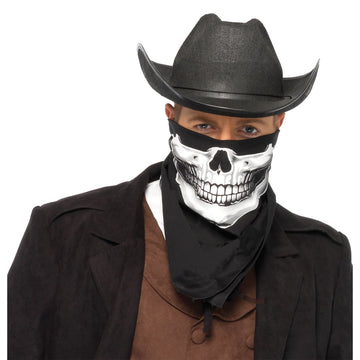Bandanna Skull - Halloween costumes Handbags Wallets & Belts Wild West & Cowboy