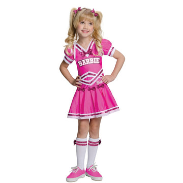 Barbie Cheerleader Child Costume Sm - Barbie Costume Barbie Halloween Costume