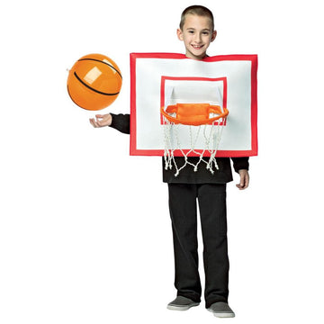 Basketball Hoop Ball Boys Costume Medium 7-10 - Boys Costumes Funny Costume Game