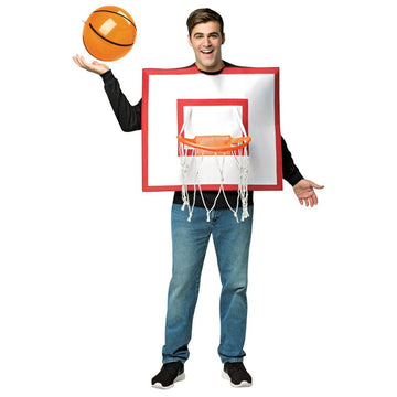 Basketball Hoop With Ball Adult Costume - adult halloween costumes Funny Costume