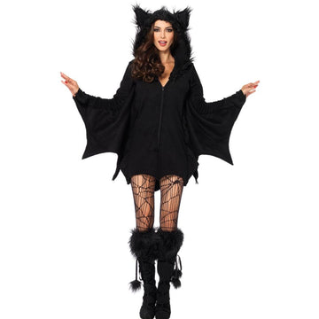 Bat Cozy Adult Costume Small - adult halloween costumes female Halloween