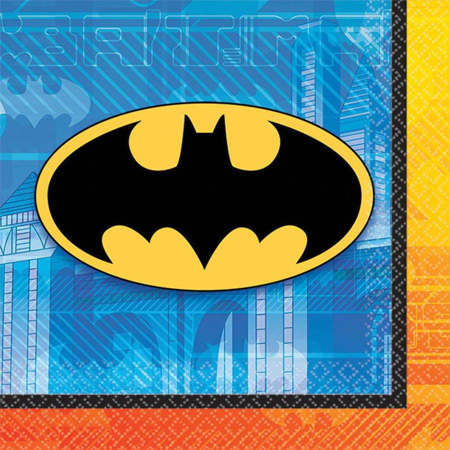 Batman Beverage Napkins -Set of 16 - Batman Costume Birthday Party Decorations