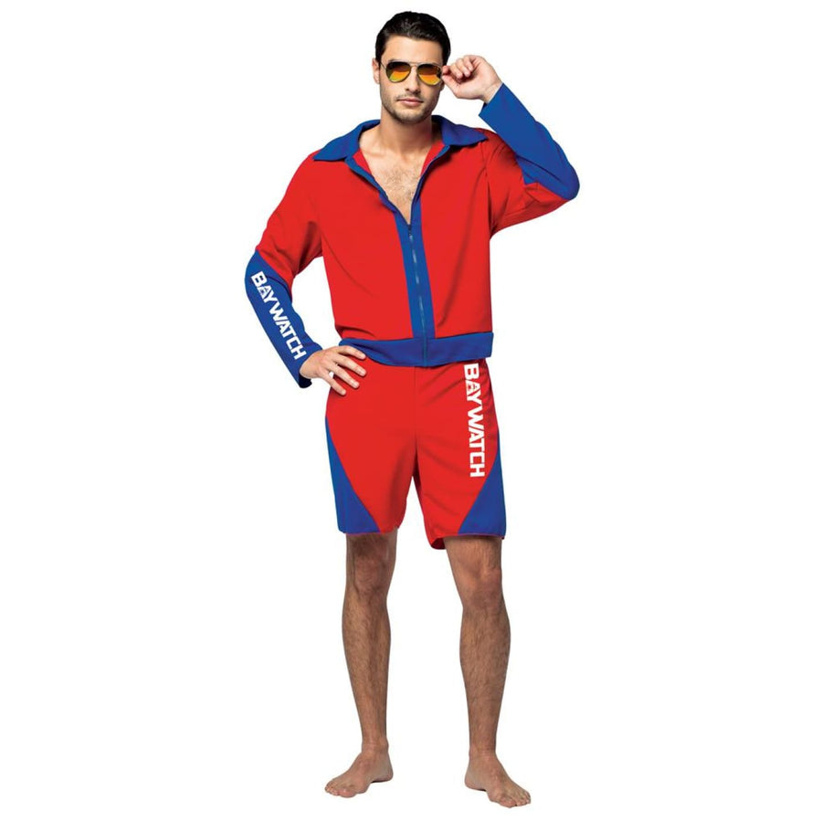 Baywatch Male Lifeguard Suit Adult Costume - adult halloween costumes Celebrity