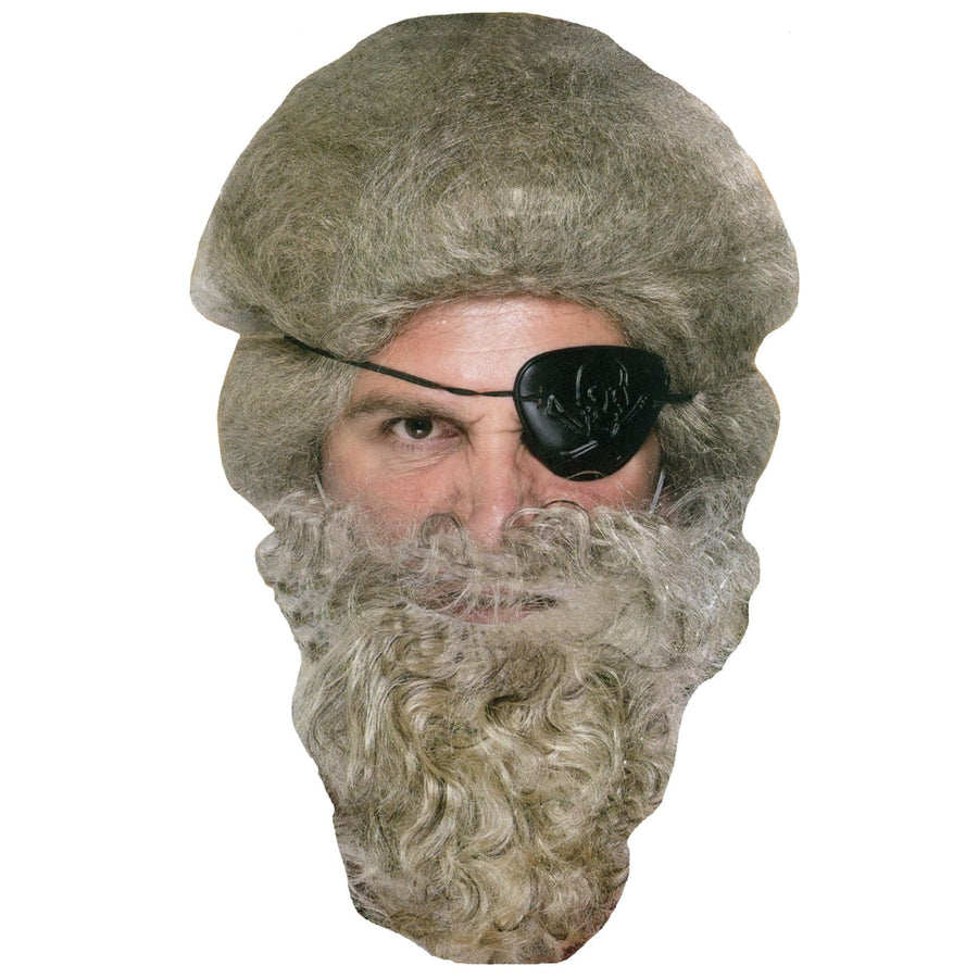 Beard Pirate Dark Grey - Halloween costumes Pirate Costume