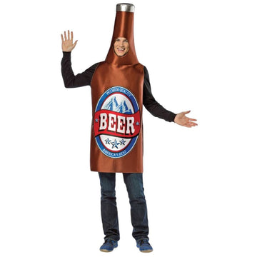 Beer Bottle Adult Costume - adult halloween costumes Food & Drink Costume Funny