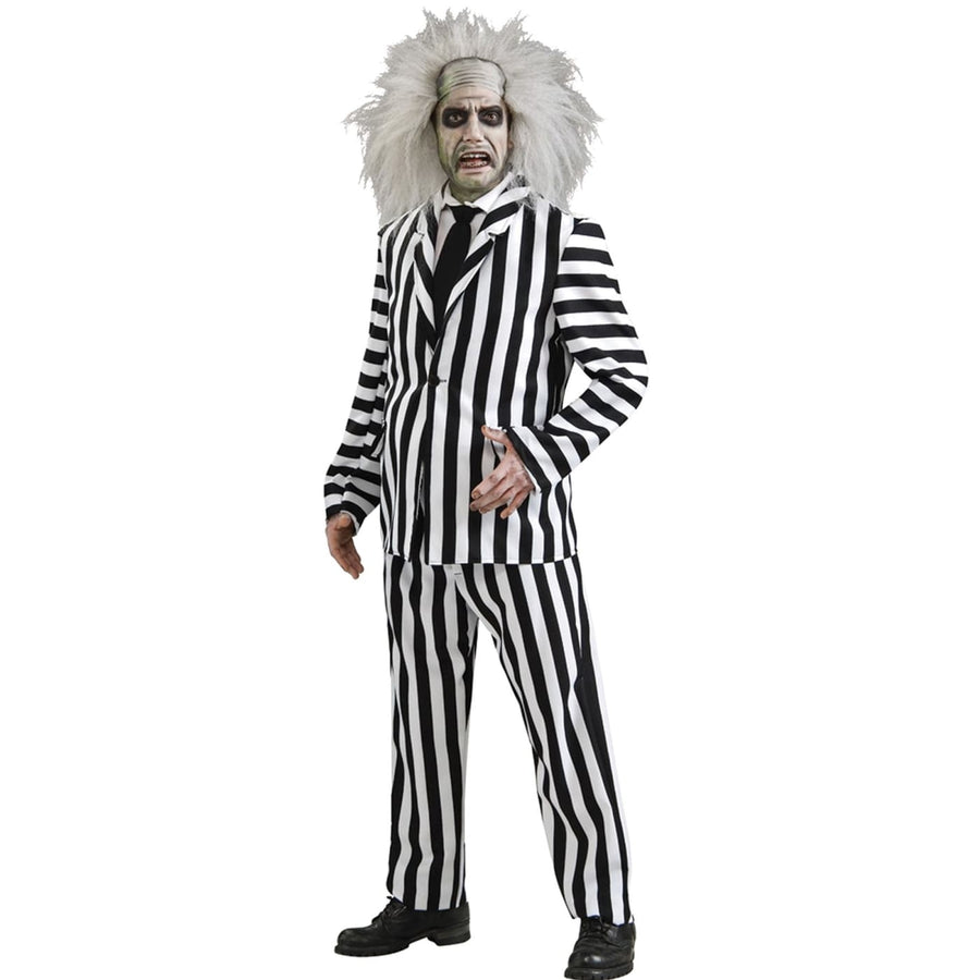 Beetlejuice Dlx Adult Xl - adult halloween costumes Beetlejuice Costume
