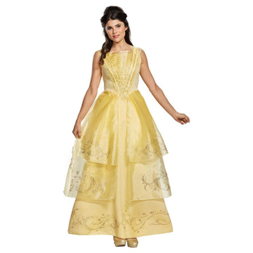 Belle Ball Gown Adult Costume Medium 8-10 - adult halloween costumes Disney