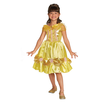 Belle Sparkle Classic Toddler Costume 3T-4T - Belle Halloween Costume Disney
