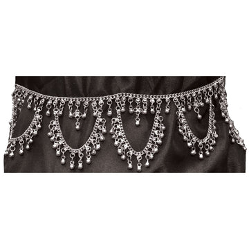 Belt Silver Coin - Belly Dancer & Eastern Costume Fashion Jewelry Fortune Teller