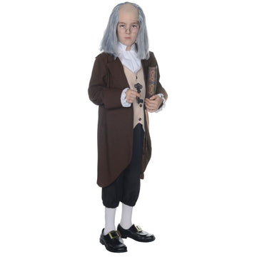 Ben Franklin Boys Costume Small 4-6 - Boys Costumes Halloween costumes