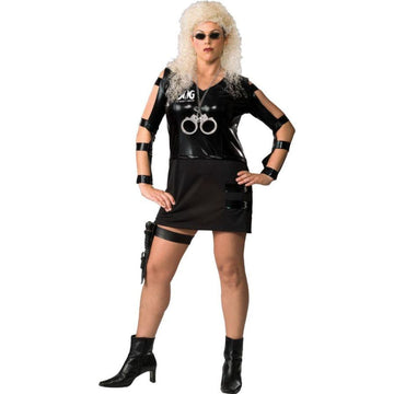Beth The Bounty Hunter - adult halloween costumes Convict & Cop Costume female