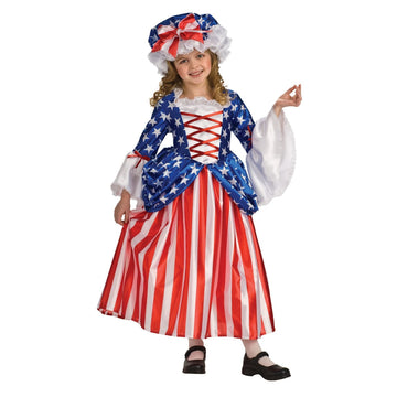 Betsy Ross Child Costume Sm 4-6 - Betsy Halloween Costume Girls Costumes girls