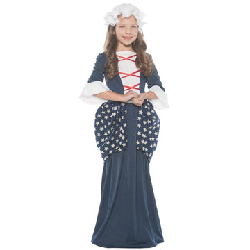 Betsy Ross Kids Costume Large 10-12 - Girls Costumes Halloween costumes