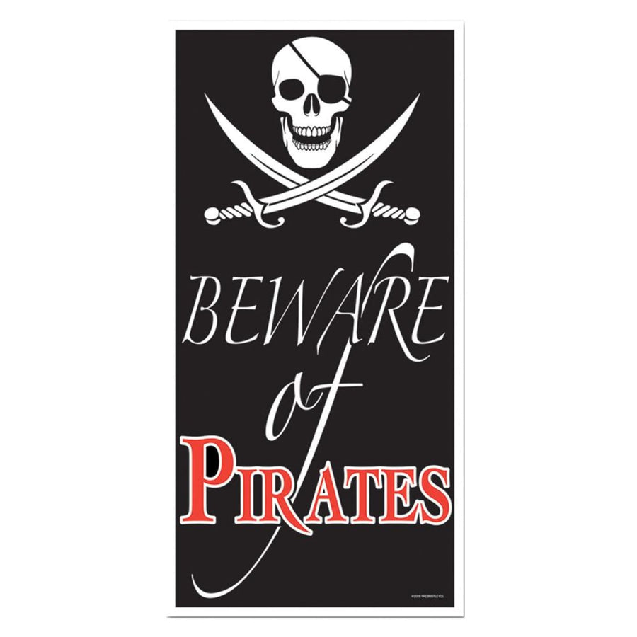 Beware Of Pirate Door Cover - Decorations & Props Halloween costumes haunted