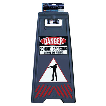 Beware Of Zombie Sign and Tape - Decorations & Props Halloween costumes haunted