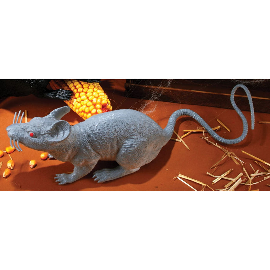 Big Grey Rat 17 Inch - Decorations & Props Halloween costumes haunted house