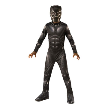 Black Panther Boys Costume Small 4-6 - Boys Costumes New Costume