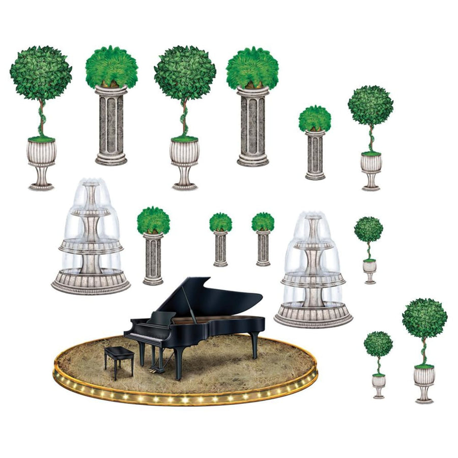 Black Tie Piano And Background Props - Decorations & Props Halloween costumes