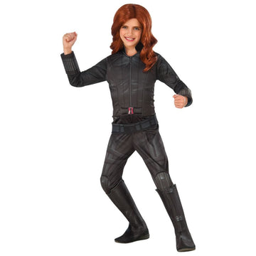 Black Widow Deluxe Kids Costume Large 12-14 - DC Comics Costume Girls Costumes