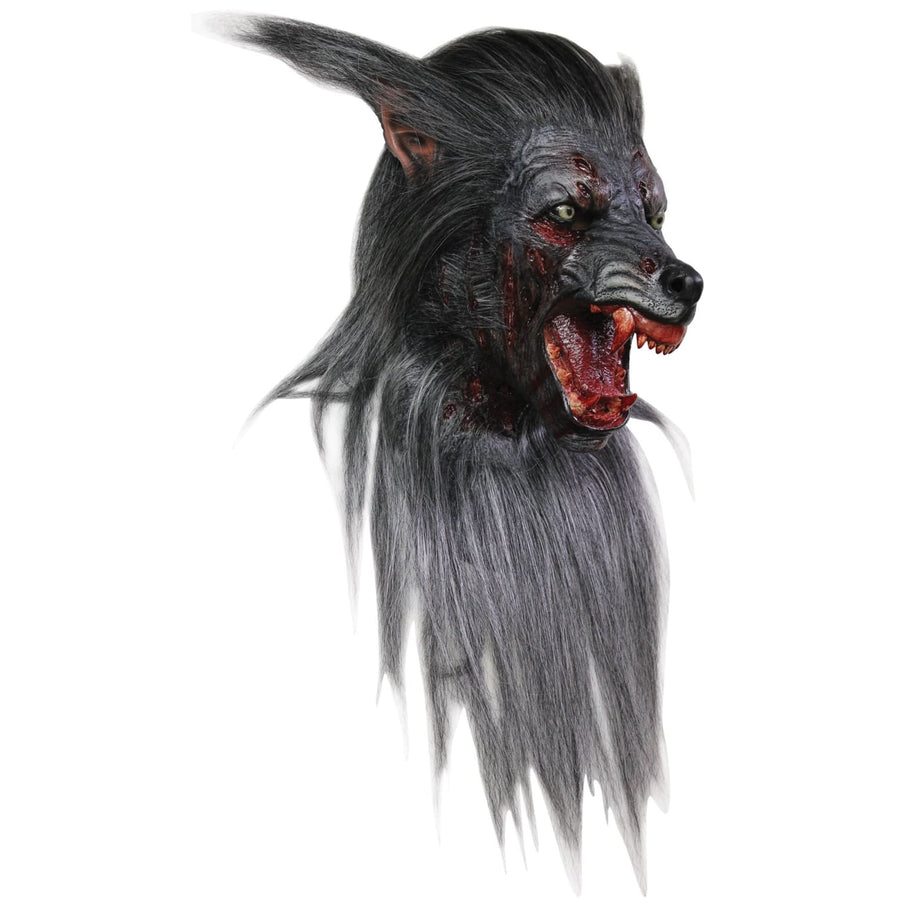Black Wolf Adult Latex Mask - Animal & Insect Costume Costume Masks Halloween