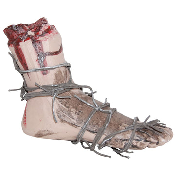 Bloody Foot With Barbed Wire - Decorations & Props Halloween costumes haunted