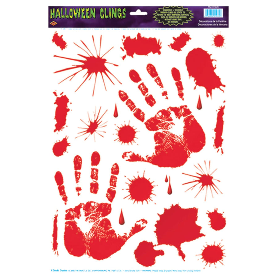 Bloody Handprint Clings - Decorations & Props Halloween costumes haunted house