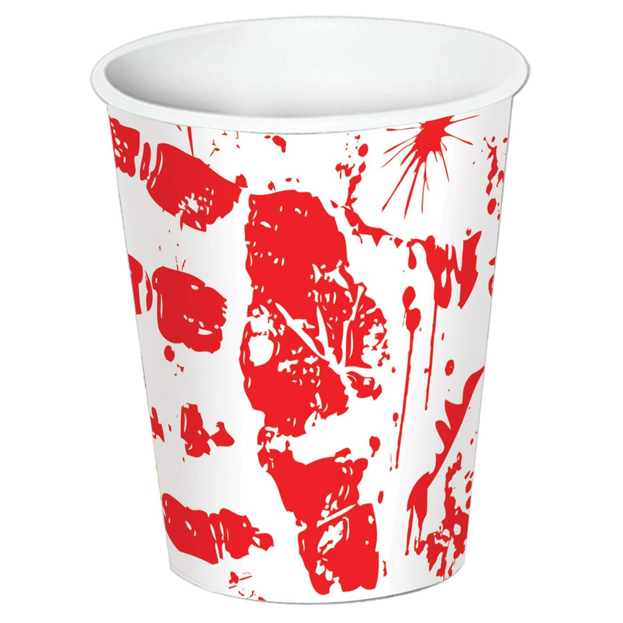 Bloody Handprints 9 Oz Cups -Set of 8 - Decorations & Props Halloween costumes