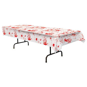 Bloody Handprints Table Cover - Decorations & Props Halloween costumes haunted