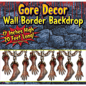 Bloody Limbs Border Roll 20Ft X 4Ft - Decorations & Props Halloween costumes
