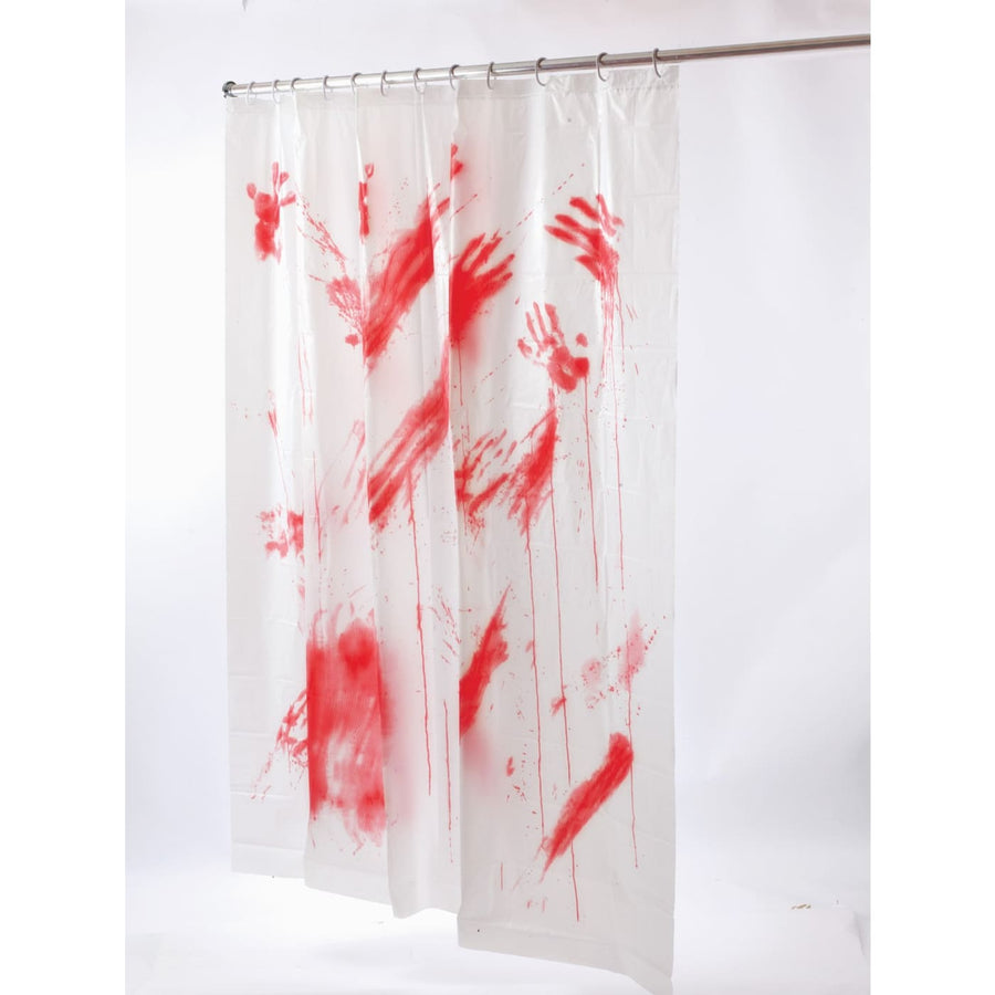 Bloody Shower Curtain - Decorations & Props Halloween costumes haunted house