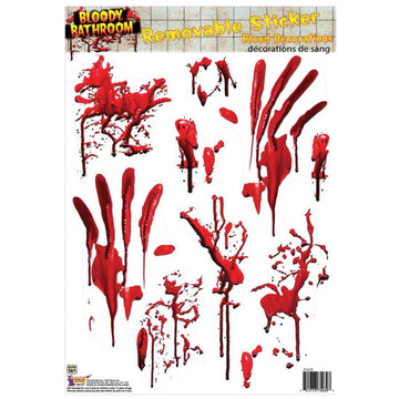Bloody Tile Stickers - Decorations & Props Halloween costumes haunted house