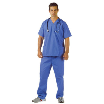 Blue Scrubs Adult Costume XXL 48-50 - adult halloween costumes Doctor & Nurse